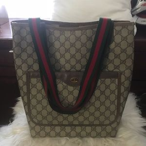 Authentic Gucci shoulder tote bag